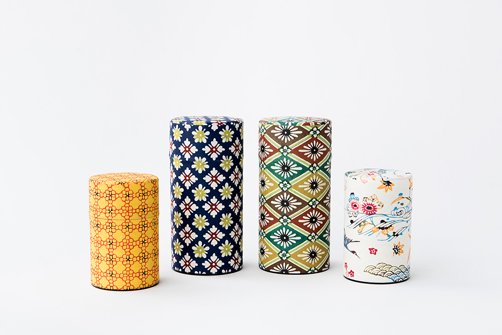 型染め茶缶